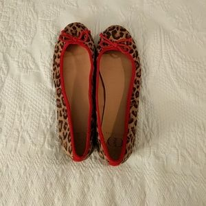 Leporard flats with Red trim